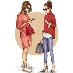 Amigos  Digital Download  ilustración de moda por StyleOfBrush                                                                                                                                                                                 Más