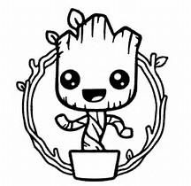 Vinyl Decal Sticker Baby Groot Decal For Windows Cars