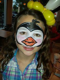 #penguin #facepainting design by #amazingfacepaintingbylinda #facepaintingjacksonvillefl #facepaintingjax by Linda Schrenk  Www.amazingfacepaintingbylinda.com