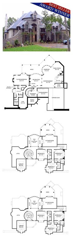 Luxury House Plan 72201 | Total Living Area: 4041 sq. ft., 4 bedrooms and 4.5 bathrooms. #houseplan #luxuryhome