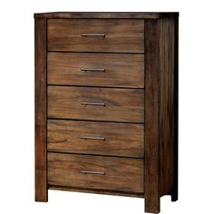 $880 - Oak and vaneer Loon Peak Rutherford Chest | AllModern