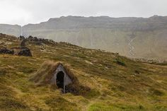 In this article, we thought we'd feature this charming abandoned turf house, the form of which is rather common on the Icelandic landscape.