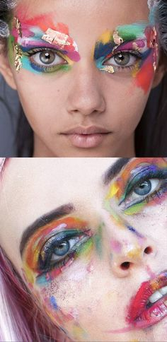 It's amazing what a little inspiration can spark in you. Paint box creative make up. Painted Boxes, It's Amazing, Rainbows, Carnival, Sad, Make Up, Photo And Video, Creative, Painting
