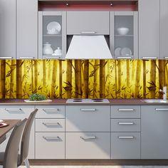 Kitchen Backsplash: wallpaper — Bamboo