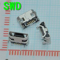 10pcs Micro USB 5P,5-pin Micro USB Jack,5Pins Micro USB Connector Tail Charging socket mini USB  #DSC0039