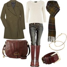 fall/winter - olive and cognac (Probably warm or deep autumn actually, although a dark haired soft autumn would be able to pull this off)