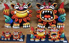Okinawan Shīsā (シーサー) Guardian Deity of … Okinawa Japan, Okinawa Tattoo, Itchy Hands, Coco Curry, Karate, Lion Dance, Foo Dog, Naha, Kokeshi Dolls