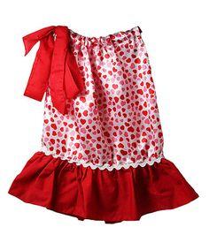 Look at this #zulilyfind! Pink & Red Hearts Pillowcase Dress - Infant, Toddler & Girls #zulilyfinds