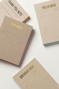 Thank You Notes Letterpress Notepad