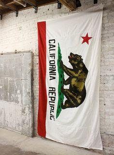 Vintage Original Cotton California Bear Flag by MDQualityGoods