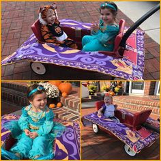 Aladdin and Jasmine magic carpet ride Halloween costume for kids