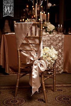 Gorgeous ! sash tie. Check out our grand selection of chair sashes at www.cvlinens.com