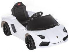 Carro Elétrico Infantil Motorizado Lamborghini - c/ Controle Remoto Farol Entrada para MP3 Branco com as melhores condições você encontra no Magazine Ubiratancosta. Confira!