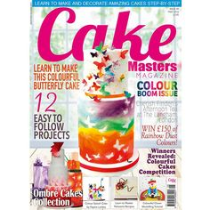 "The ""Colour Boom"" May issue of Cake Masters Magazine is out now! Our front cover star is Nina from Môn Cottage Cupcakes Get your copy now: www.cakemasters.co.uk/shop"
