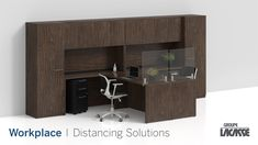 Our workplace distancing solutions provide environments that keep people healthy, safe and productive.  Create healthier workspaces with our soft seating, panel system, acrylic privacy screens, freestanding acrylic screens, fixed acrylic screens, surface lateral acrylic screens, end surface acrylic screens, laminate lateral gallery panels with acrylic screens and more!   #groupelacasse #workplacedistancing #physicaldistancing #staysafe #smartspaces #privacy Panel Systems, Privacy Screens, Soft Seating, Workspaces, Office Furniture, Surface, Desk, Create, Gallery