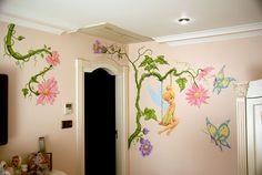 Tinkerbell wandschildering