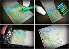 Embossed #Gelatos card tutorial.  By Leonie Neal-Dawson.