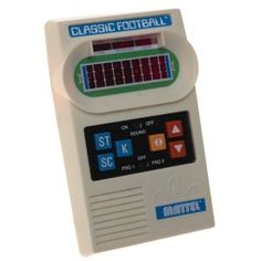 Classic Football Handheld Game from Mattel. I still remember going to school after Christmas and being one of the few kids that didn't get this game.