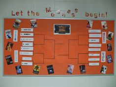 I'm a librarian that likes sports! As a result, I've combined books and sports in our latest incarnation of the bulletin board and displays in the media center. March Madness (college basketball's...