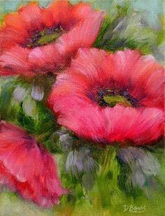 """Poppies"" - Original Fine Art for Sale - © Debra Baars"