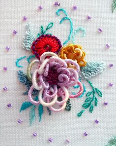 RosalieWakefield-Millefiori: A NEW Brazilian Dimensional Embroidery Stitch Technique ... Braided Lace