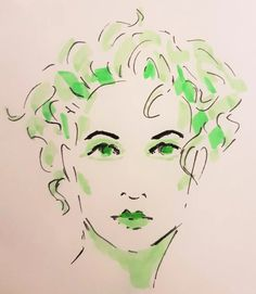 Green highlighters and black marker Lily_in_Snow Abstract Face Art, Green Highlights, Doodle Art Designs, Drawing Websites, Marker Art, Pictures To Draw, Drawing People, Art Sketchbook, Figure Drawing