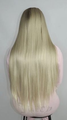 This unit really is a dream with its silky long blonde locks. Buy Wigs Online, Lace Front Wigs, Straight Hairstyles, Locks, Your Hair, Long Hair Styles, Beauty, Door Latches, Straight Haircuts