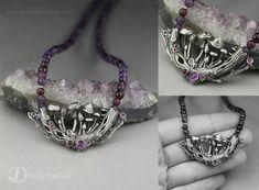Hand sculpted silver, amethysts, garnets. www.drakonaria.com https://www.etsy.com/shop/drakonaria