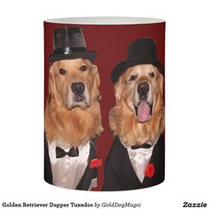 Golden Retriever Dapper Tuxedos Flameless Candle