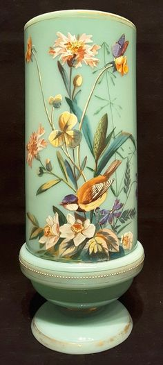 """#Victorian~#Antique~#Turquoise~#Blue~#Bird & #Flowers~ #Vase~10.5""""H  #Seraphimslair See #Etsy #eBay #Twitter #Facebook & #Instagram for more #antique, #vintage & #modern #art #glass, #ceramics, #collectibles & #gifts! https://www.ebay.co.uk/usr/seraphimslair2 https://twitter.com/Seraphimslair https://www.instagram.com/seraphimslair5stars/ https://www.etsy.com/uk/shop/seraphimslair https://www.facebook.com/seraphimslair/ #USA #UK #JAPAN #CHINA #EUROPE #STYLE #STYLISH #FASHION #INTERIORDESIGN"""