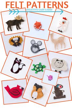 Felt Patterns Available for Download   FREE   Creative Cain Cabin