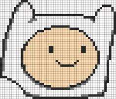 Adventure Time Finn Head perler bead pattern