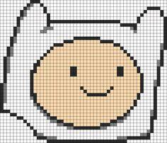 Adventure Time Finn Head perler bead pattern