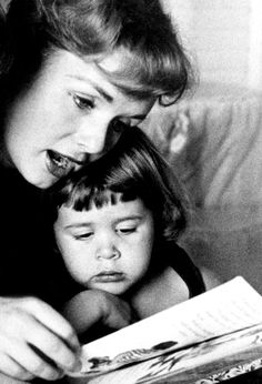 Debbie Reynolds with her daughter Carrie Fisher ~ 1950's
