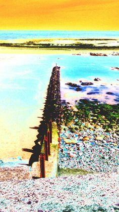 Seaham beach wall.