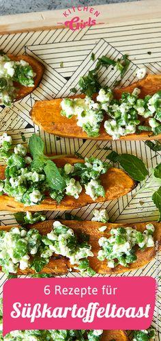 6 Rezepte für Süßkartoffeltoast Food Art, Clean Eating, Bread, Snacks, Cooking, Recipes, Food Ideas, Colorful, Autumn