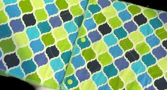 Snapping Unpaper Towels Blue and Green by WhileEllieDreams  Eco friendly Green living Unpaper towels Paperless towels Quatrefoil Blue and green kitchen decor Reusable paper towels Save money
