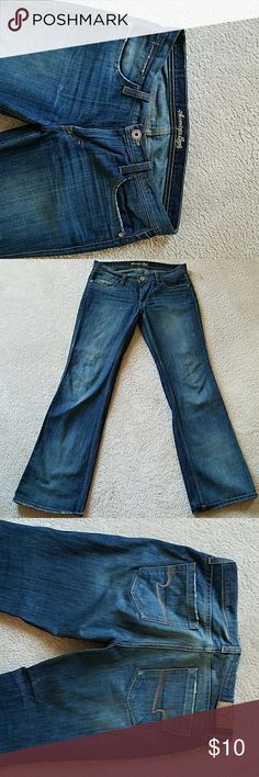 American Eagle jeans American Eagle hipster relaxed flare jeans size 6 hipster fit American Eagle Outfitters Jeans
