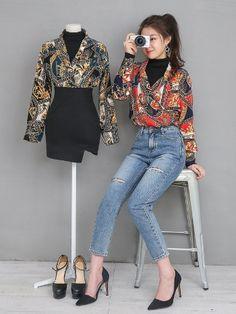 마리쉬♥패션 트렌드북! Korean Girl Fashion, Korean Fashion Trends, Ulzzang Fashion, Korea Fashion, Cute Fashion, Asian Fashion, Modest Outfits, Casual Outfits, Cute Outfits