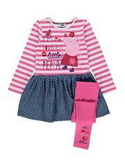 Peppa Pig Dress and Leggings Set Peppa Pig Birthday Outfit, Peppa Pig Outfit, Peppa Pig Dress, Peppa Pig Clothes, Birthday Box, Doll Clothes, Baby Girl Fashion, Kids Fashion, Toddler Outfits