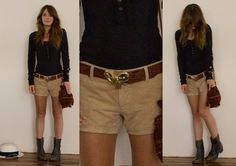 Long sleeves, boots and shorts