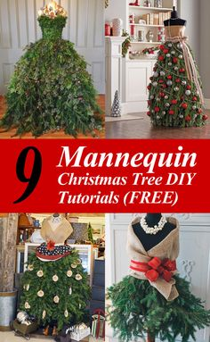 Call it a Dress Form Christmas Tree, or a Mannequin Christmas Tree. We call it ingenious! This is the most insanely original and clever idea we've seen in Read More DIY Mannequin Christmas Tree – 9 Dress Form Tutorials (Free) Mannequin Christmas Tree, Dress Form Christmas Tree, Types Of Christmas Trees, Black Christmas Trees, Cat Christmas Ornaments, Decorating With Christmas Lights, Christmas Tree Themes, Beautiful Christmas, Christmas Wreaths