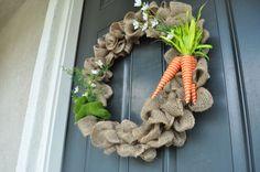 easy spring burlap wreath {diy tutorial}