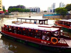Bumboats at Clarke Quay in Singapore