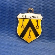 Vintage Enamel Travel Souvenir Shield Charm OSTENDE (Ostend, Belgium)