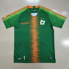 768c87280ec 18-19 Thai Quality Coate d Ivoire Greensoccer Soccer jersey Men Football  Shirt