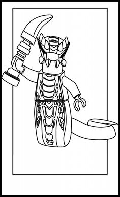 ninjago snake coloring pages