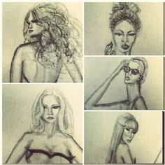 Fashion illustration figures from my class hw