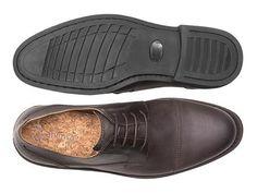 Vegan Shoes & Bags: Men's Cap-Toe Dress Shoe by Ahimsa in Dark Brown