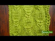 Aprende a tejer una trenza en forma de palmera calada en dos agujas - YouTube